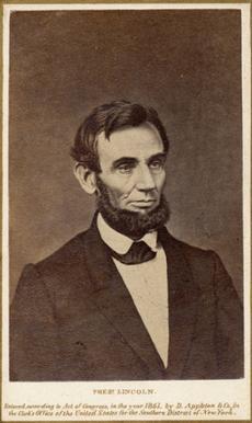Lincoln in 1861 original CDV, Appleton imprint