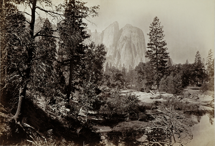 """CATHEDRAL ROCKS, YOSEMITE"" BY CARLETON WATKINS"