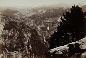 """""""YOSEMITE VALLEY FROM INSPIRATION POINT"""" BY CARLETON WATKINS"""