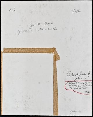 JULIETTE GRECO by Warnecke & Schoenbaechler, 1960 (verso)