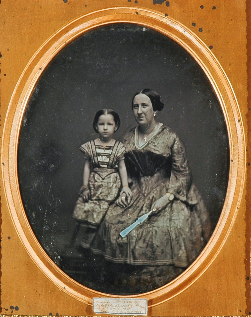 WOMAN AND CHILD, HAVANA. Full plate daguerreotype by S.F. Beurling.